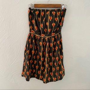 Ecote Strapless Tie Back Mini Dress! Size M!
